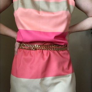 Gold tone chain wrap waist / hip belt